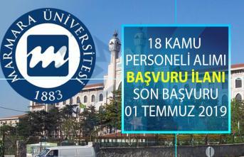 Marmara Üniversitesi 18 kamu personeli alımı için yeni ilan yayınlandı! Akademik personel alımı başvuru şartları nelerdir?