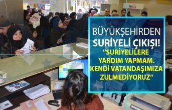 Mersin Büyükşehir Belediyesi Başkanı Vahap Seçer Suriyelilere yapılan yardımlara dur dedi!