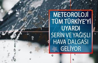 Meteoroloji Genel Müdürlüğü Tüm Türkiye'yi Uyardı! Serin ve Yağışlı Hava Dalgası Geliyor