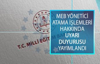 Milli Eğitim Bakanlığı (MEB) 2019 Yılı Yönetici Atama Duyurusu Yayımlandı!