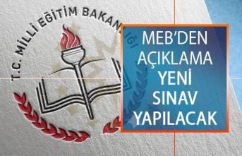 Milli Eğitim Bakanlığından (MEB) Açıklama! Yeni Sınav Yapılacak