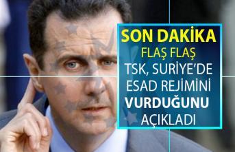 Milli Savunma Bakanlığı TSK'nın Suriye'de bulunan Esad rejimine ait güçleri vurduğunu açıkladı!