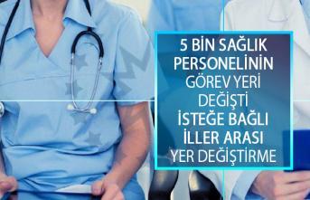 Sağlık Bakanlığı, 5 Bin Sağlık Personelinin Görev Yerini Değiştirdi! Sağlık Bakanlığı İsteğe Bağlı İller Arası Yer Değiştirme Suretiyle Atanma Kurası