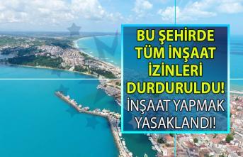 Sinop'ta tüm inşaat izinleri durduruldu! İmar Planları İptal Edildi!
