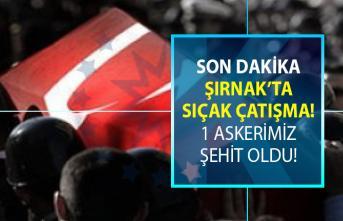 Şırnak'ta PKK'lı teröristlerle girilen sıcak çatışmada bir askerimizin şehit olduğu haberi geldi!