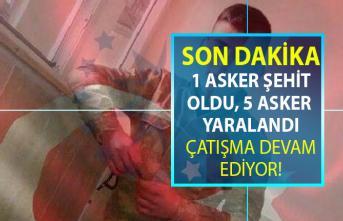 SON DAKİKA! Suriye'de devam eden Zeytin Dalı Hareketinde 1 askerimiz şehit oldu 5 askerimiz yaralandı!