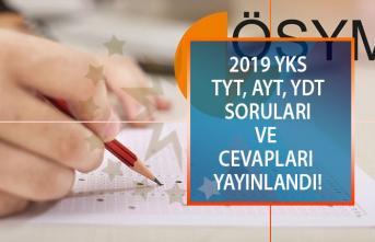 Son dakika! YKS soruları ve cevap anahtarı yayınlandı!  2019 TYT VE AYT soru ve cevapları ÖSYM tarafından www.osym.gov.tr de paylaşıldı