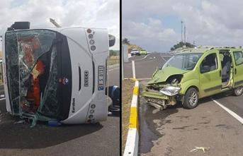 Tekirdağ'da Feci Kaza! 18 Kişi Yaralandı