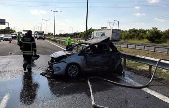 Tekirdağ TEM otoyolunda trafik kazası! Feci kazada 5 kişi hayatını kaybetti