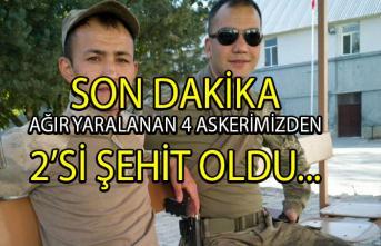 Tunceli'den son dakika şehit haberi! Ağır yaralanan askerlerimizden 2'si şehit oldu