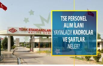 Türk Standardları Enstitüsü (TSE) personel ilanı yayınladı! Kadrolar ve şartlar neler?