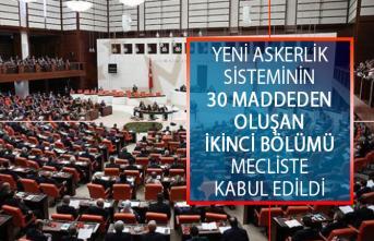 Yeni Askerlik Sisteminin 30 Maddeden Oluşan İkinci Bölümü Mecliste Kabul Edildi!
