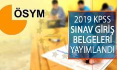 2019 KPSS Sınav Giriş Belgeleri Yayımlandı! ÖSYM Kamu Personeli Seçme Sınavı (KPSS) Giriş Yerleri Sorgulama Ekranı