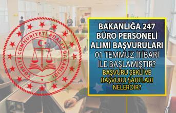 247 Büro Personeli (ceza infaz kurumu kâtibi) alımı başvuruları bugün başladı! Peki başvurular nereye nasıl yapılacak? CTE başvuru şartları nelerdir?