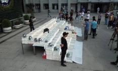 271 milyon 150 bin sahte dolar İstanbul Emniyet Müdürlüğü bahçesinde sergileniyor