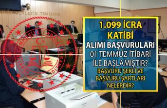 Adalet Bakanlığı 1099 İcra Katibi Memuru Alımı başvuruları bugün başladı! Memur alımı başvuru şartları nelerdir?