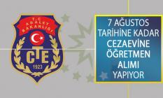 Adalet Bakanlığı CTE 7 Ağustos Tarihine Kadar Cezaevine Öğretmen Alımı Yapıyor!