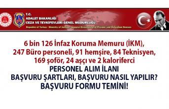 Adalet Bakanlığı KPSS 70 Taban Puanı ile 6 bin 126 İnfaz Koruma Memuru (Gardiyan) alımı başvuruları nereye yapılır? Başvuru şartları ve başvuru formu temini!
