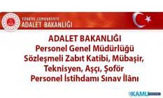 Adalet Bakanlığı'na 35 yaşını bitirmemiş Zabıt Katibi, Mübaşir, Teknisyen, Aşçı ve Şoför alımı başvuruları devam ediyor!