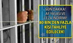 Af Yasası ve Ceza İndirimi Son Dakika yeni haberleri! Çıkarılan yargı paketi ile 80 bin kişi tahliye mi edilecek?
