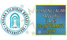 Ankara Yıldırım Beyazıt Üniversitesi 14 öğretim üyesi alım ilanı
