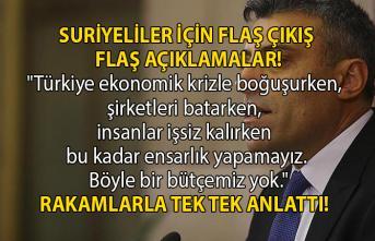 Ardahan Milletvekili Öztürk Yılmaz, Türkiye'de bulunan Suriyeliler hakkında flaş açıklamalarda bulundu!