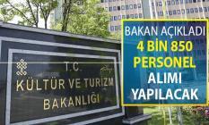 Bakan Ersoy'dan İstihdam Açıklaması: 4 Bin 850 Personel Alımı Yapılacak