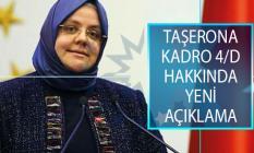 Bakan Zehra Zümrüt Selçuk'tan Taşerona Kadro 4/D Hakkında Açıklama!