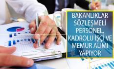 Bakanlıklar Sözleşmeli Personel, Kadrolu İşçi ve Memur Alımı İş İlanı Yayımladılar! KPSS'li ve KPSS'siz