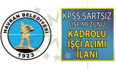 Balıkesir Havran Belediyesi 29 temmuza kadar kadrolu personel alımı için yeni ilan yayınladı