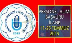 Bandırma Onyedi Eylül Üniversitesi 25 Temmuz'a kadar 14 personel alımı yapacaktır!