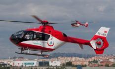 Bilecik'te meydana gelen trafik kazası sonrası yanan kişi hava ambulansı ile izmir'e sevk edildi