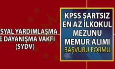 Çerkeş Sosyal Yardımlaşma ve Dayanışma Vakfı (SYDV) 26 temmuza kadar KPSS şartsız en az ilkokul mezunu memur alımı yapacaktır!