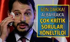 CHP'li Aykut Erdoğdu'dan Berat Albayrak'a çok kritik sorular yöneltildi!