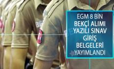 EGM 8 Bin Çarşı ve Mahalle Bekçisi Alımı Yazılı Sınavı Giriş Belgeleri Yayımlandı! Bekçi Alımı Sınav Giriş Belgesi Çıktı Alma Ekranı!