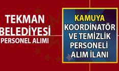 Erzurum Tekman Belediyesi koordinatör ve temizlik personel alımı ilanı başvuru şartları