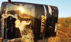Eskişehir'in Sivrihisar ilçesinde yolcu otobüsü kazası! 13 yaralı