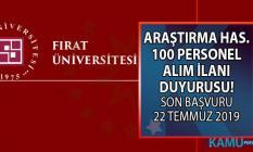 Fırat Üniversitesi KPSS'li olarak 3 farklı kadroya 100 sağlık personeli alımı yapıyor!