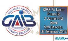 Güneydoğu Anadolu İhracatçı Birlikleri KPSS 70 Taban puanı ile 3 Uzman yardımcısı personel alımı yapıyor!