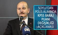İçişleri Bakanı Süleyman Soylu Açıklamıştı! Polis Alımında KPSS Baraj Puanı Değişikliği Gelişmesi!