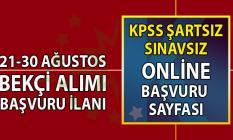 İŞKUR 21-30 Temmuz KPSS şartsız en az ilkokul, lise mezunu Bekçi Alımı başvuru şartları
