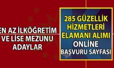 İŞKUR 23 şehirde 285 güzellik hizmetleri personeli alımı online başvuru sayfası