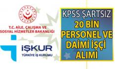 İŞKUR 27 Temmuz açık iş ilanları! İŞKUR bir hafta içinde KPSS şartsız 20 bin personel alımı başvuru ilanı