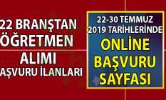 İŞKUR aracılığı ile 22 branştan 46 şehirde KPSS Şartsız, sınavsız öğretmen alımı başvuru ilanı