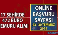 İŞKUR en az lise, önlisans ve lisans mezunu KPSS şartsız 17 şehirde 472 büro memuru alımı iş başvuru sayfası
