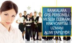 İŞKUR İle Farklı Bankalarda Görevlendirmek Üzere Gişe Personeli, Meslek Elemanı ve Risk Yönetim Uzmanı Alımı İş İlanı Yayımlandı!