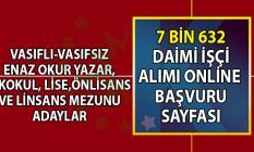 İŞKUR tarafından 21- 29 Temmuz vasıflı vasıfsız 7 bin 632 daimi işçi alımı yapılacaktır! İŞKUR online başvuru sayfası!
