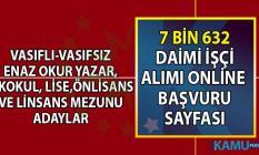 İŞKUR tarafından 26- 30 Temmuz vasıflı vasıfsız 7 bin 550 daimi işçi alımı yapılacaktır! İŞKUR online başvuru sayfası!