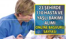 İŞKUR tarafından en az ilkokul mezunu 110 Hasta ve Yaşlı Bakımı personel alımı yapılacak!