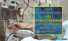 İŞKUR tarafından KPSS Şartsız 100 diyaliz teknikeri alımı yapılacaktır!